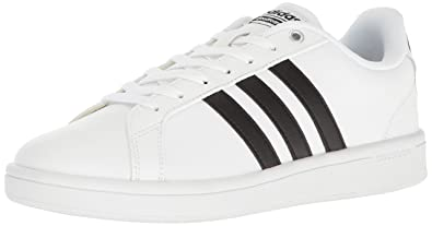 adidas Originals Men's Cloudfoam Advantage Sneakers, White/Black/White,  (6.5 M