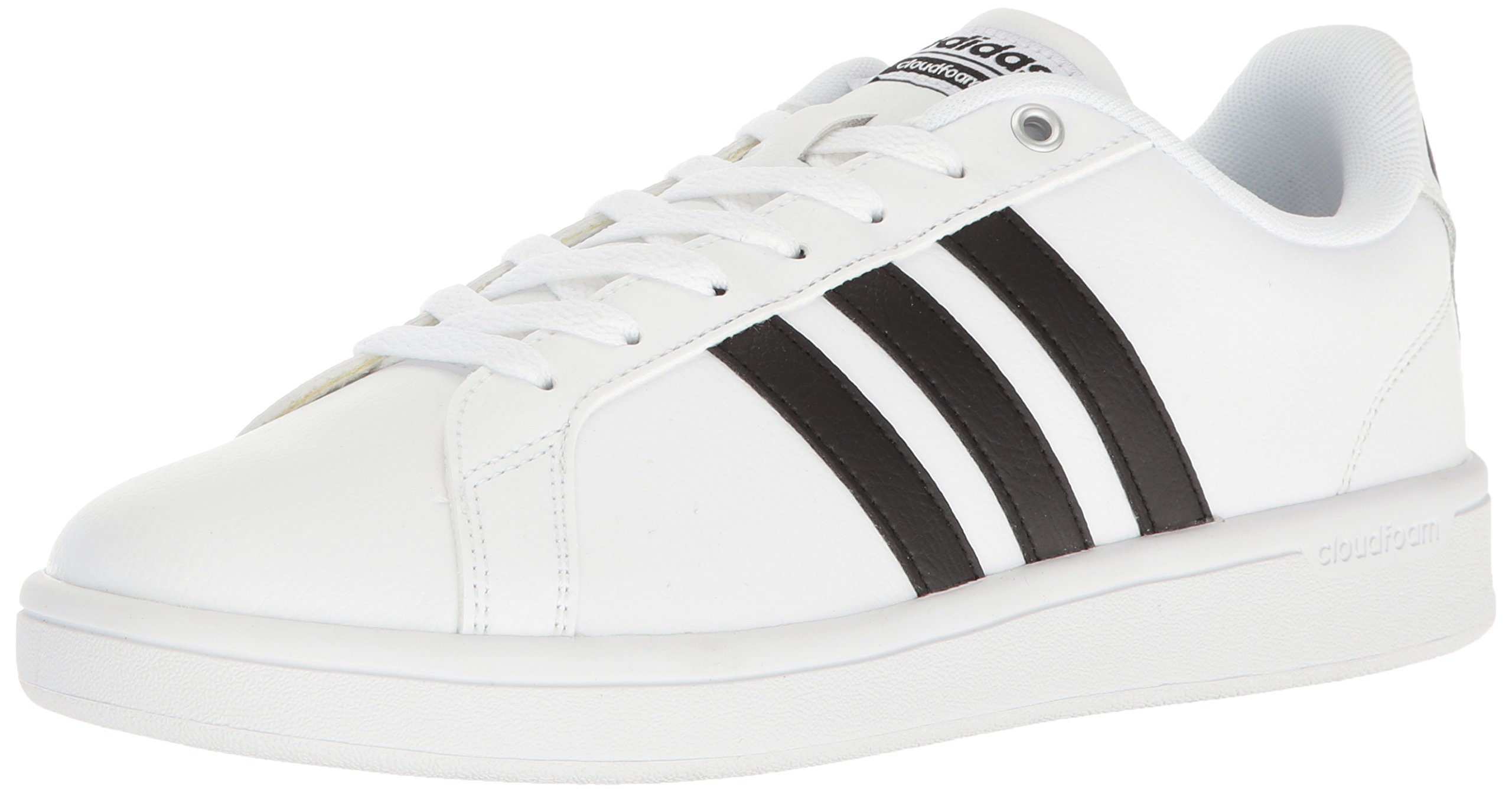 adidas Men's Cloudfoam Advantage Sneakers, White/Black/White, (9.5 M US)