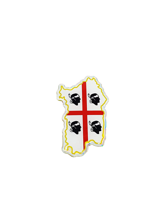 Quattroerre 14138 Sticker Adesivo 3D Sardegna Quattroerre Italia