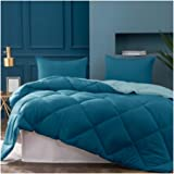 Kasentex 2-Tone Reversible Comforter Set with Plush Down Alternative Filling - Fluffy, Hypoallergenic and Machine…