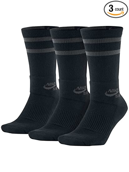 6ed47cd2974 Image Unavailable. Image not available for. Color  Nike SB Crew Sock 3 Pack  Mens