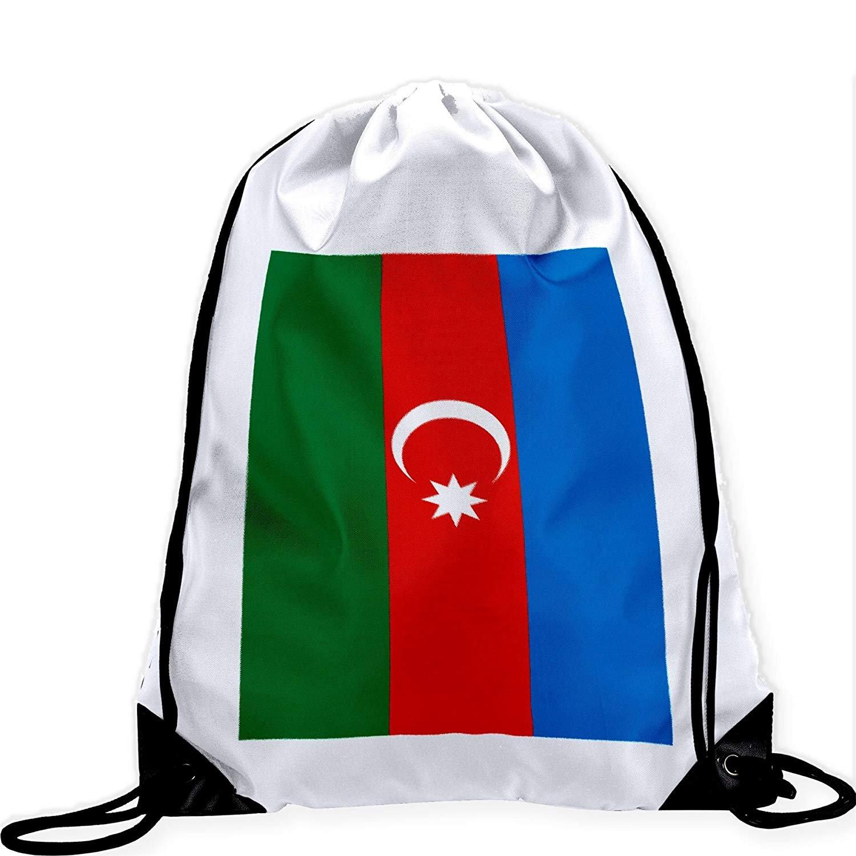 Large Drawstring Bag with Flag of Azerbaijan - Many Designs - Long lasting vibrant image