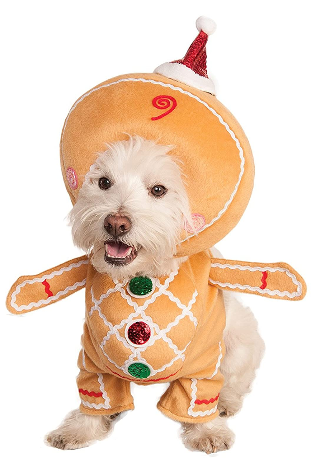 Rubie's Walking Gingerbread Man Pet Costume 580527 Medium - 1