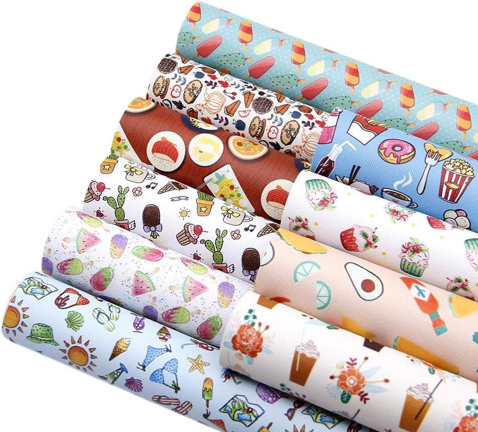 Fabric Sheet Fabric DIY Hair Bows lce Cream Canvas Sheet Ice Cream Fabric Sheets Fabric Sheet Summer Canvas Sheet