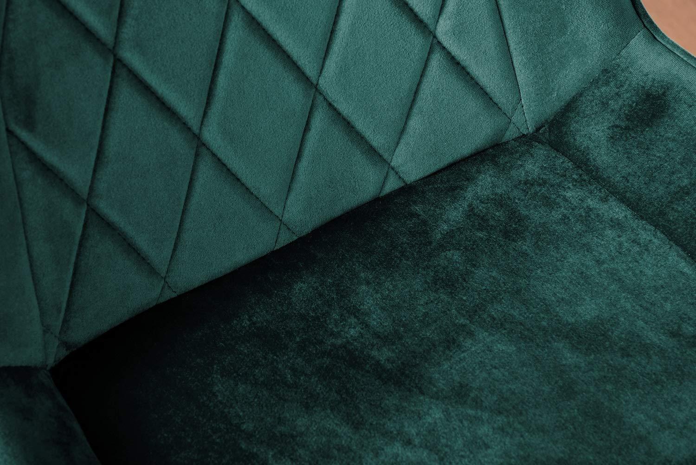 Möbellåda UK 2 x Pesaro sammet guld krom metall ben modern samtida matsal köksstolar set (2 x gröna pesaro guldstolar) 2x Green Pesaro Gold Chairs
