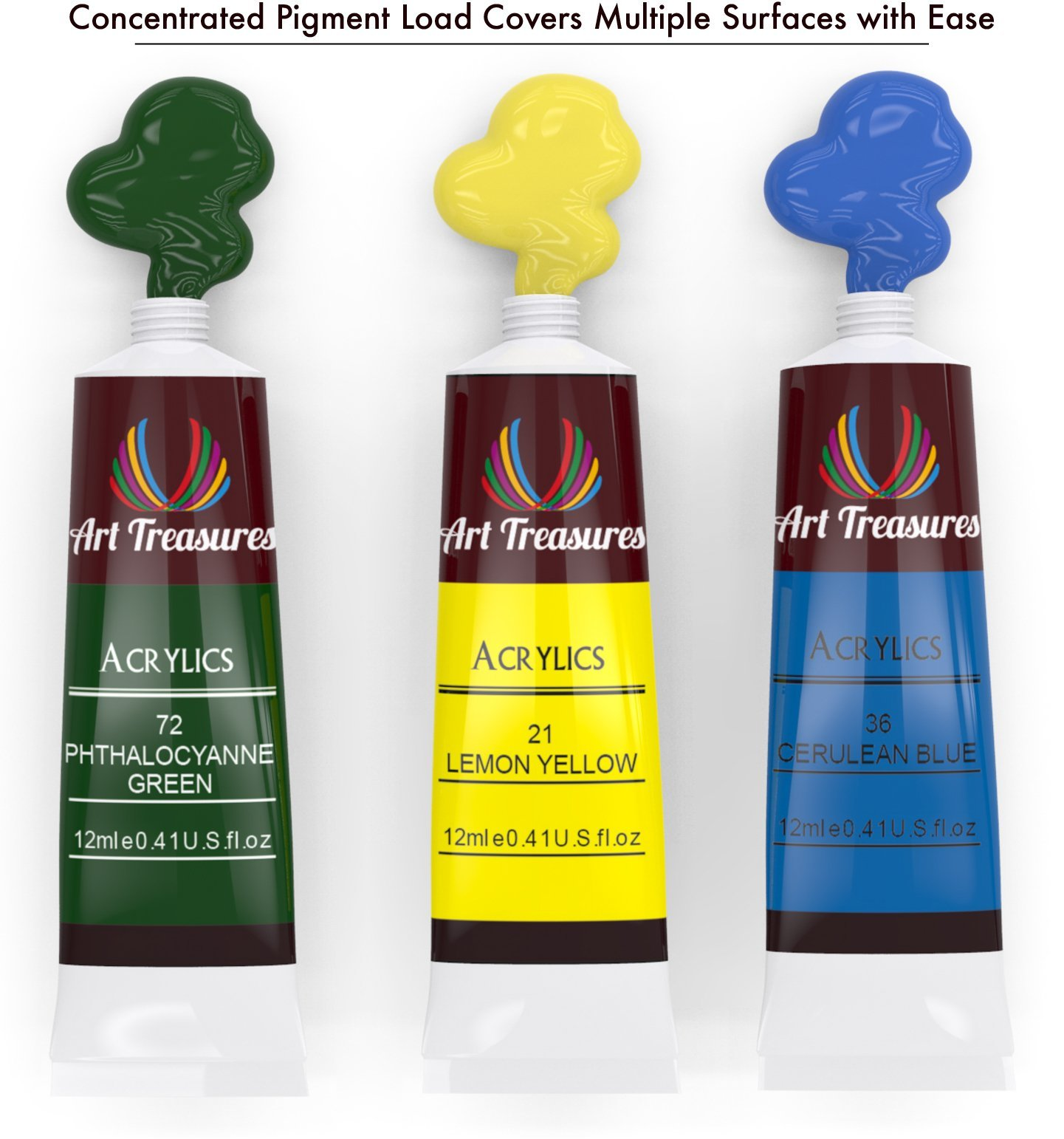 Acrylic Craft Paint - 24 Pack by Art Treasures (Image #4)