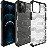 Restoo Compatible with iPhone 12 Pro Max Case,Anti-Slip Hard Armor ShockproofCase with Full Body Rugged Heavy Duty Protectio