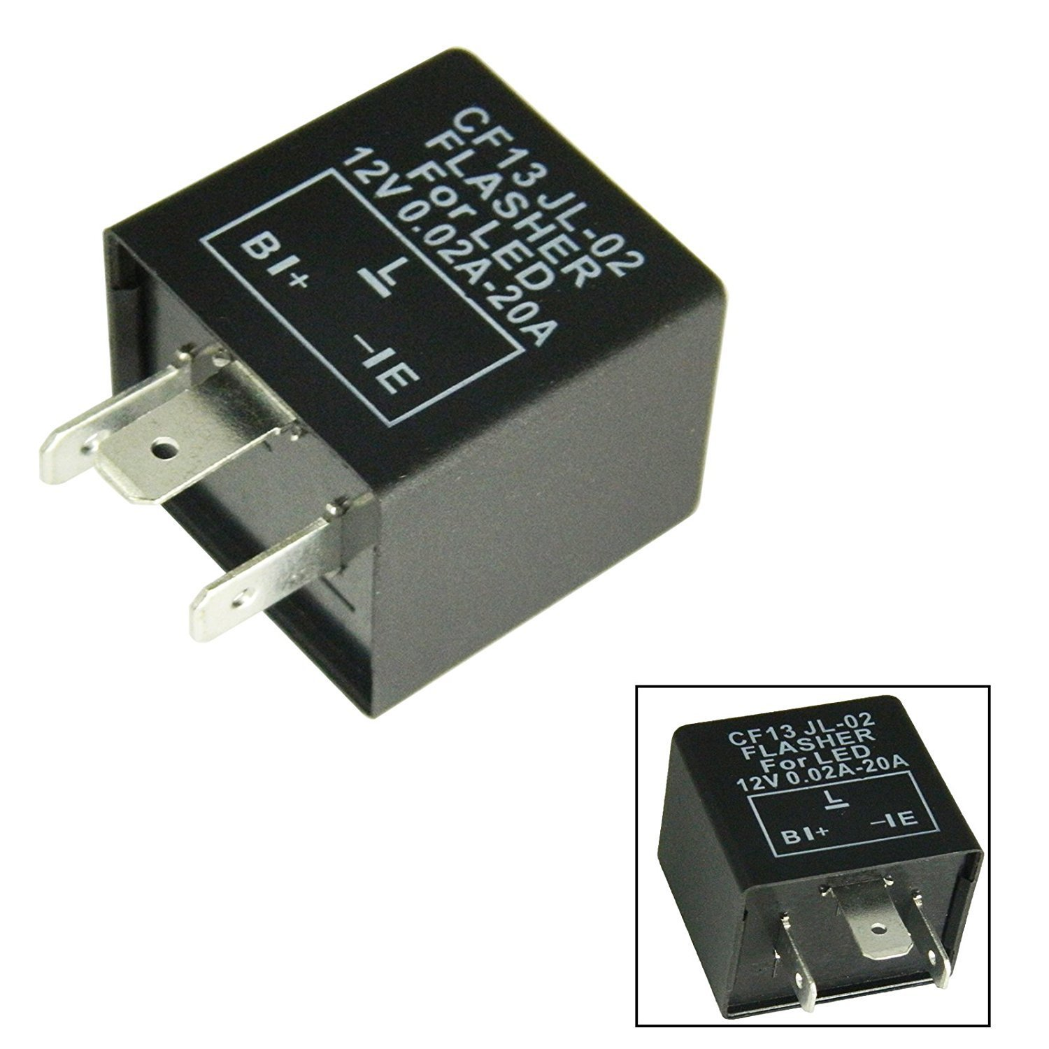 Xotic Tech 3 Pin CF13 EP34 Electronic LED Flasher Relay for Fixing LED/SMD Turn Signal Hyper Flash Xotic Tech Direct