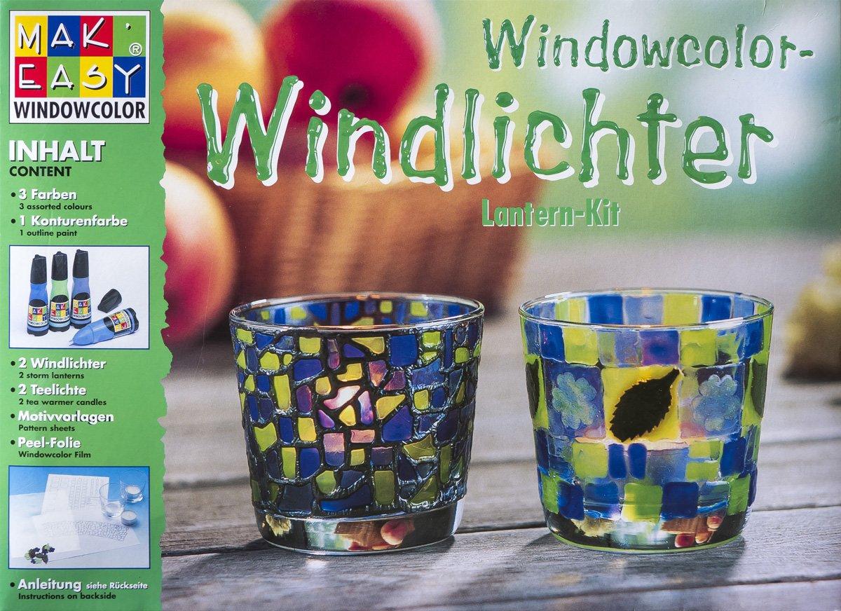 MAK\'EASY Windowcolor-Windlichter Mosaik-Bastelset - Teelichter ...