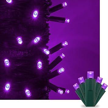 Amazon purple led christmas mini string light set 50 5mm purple led christmas mini string light set 50 5mm lights indoor outdoor christmas audiocablefo