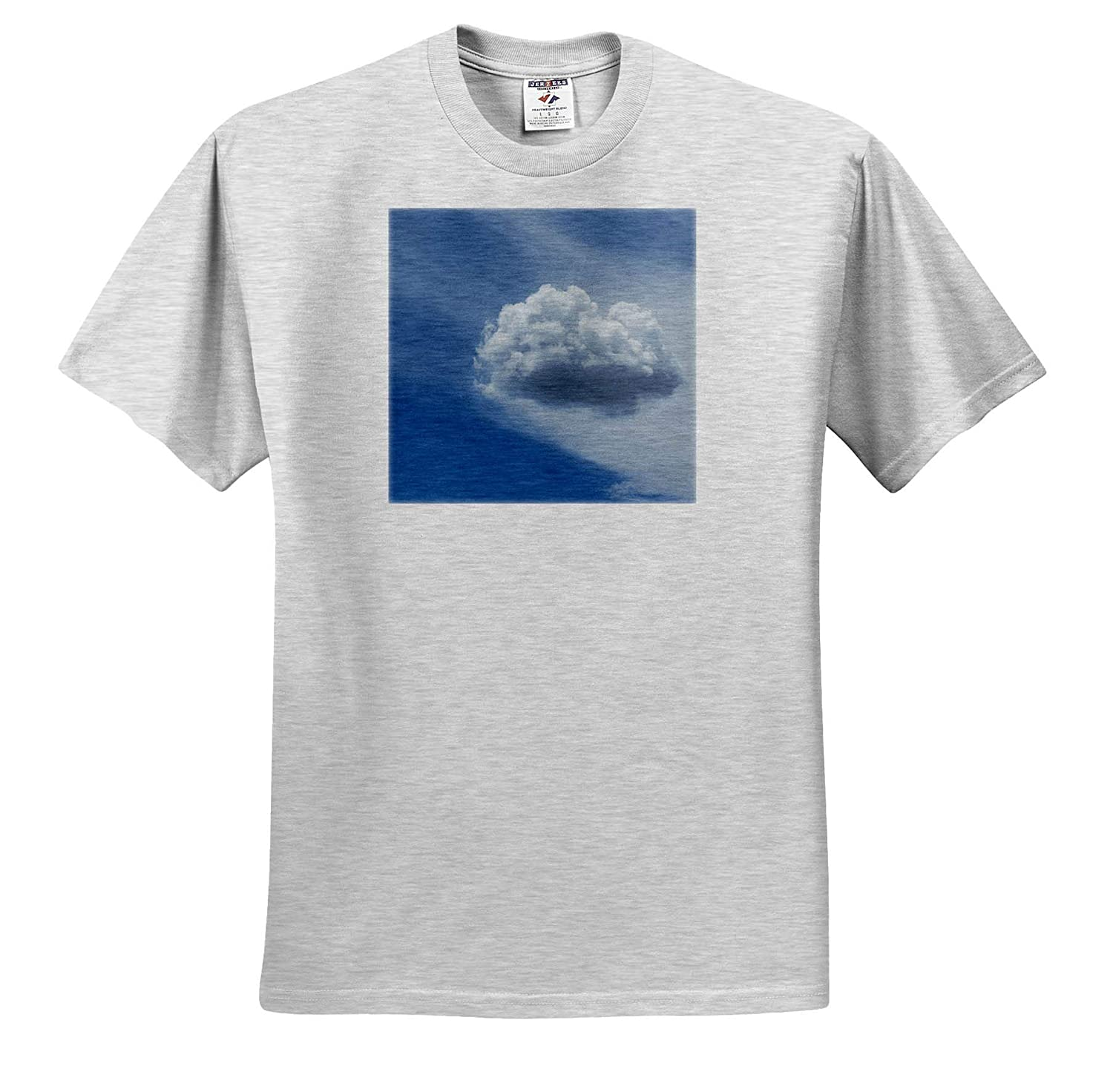 ts/_319019 Adult T-Shirt XL 3dRose Jos Fauxtographee- Coud A Floating Cloud on a Blue Sky in a Cottony Puff