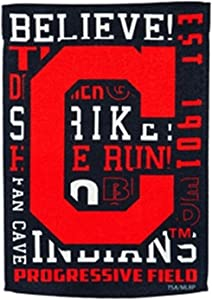 Rico Industries, Inc. Cleveland Indians Fan Rules Premium 2-Sided Garden Flag Outdoor House Banner Baseball