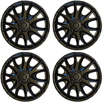 """Set de 4 tapacubos 15 """", color negro mate/Hub Caps para Mazda"""