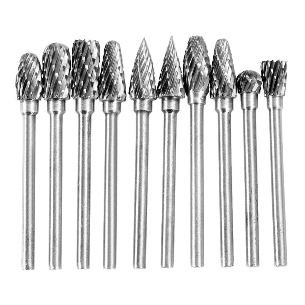 Tungsten Carbide Rotary Burrs Set for DIY Woodworking Carving Engraving Drilling PandaHug