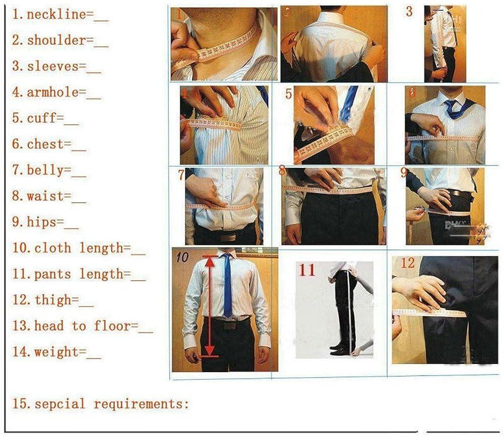 RONGKIM Mens Business Navy Slim Fit 3-Piece Men Suit Blazer for Wedding Groomsmen Suit Sets