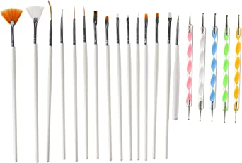 Yimart 20PCS Nail Art Design Dotting Painting Drawing Polish Brush Pen Tools