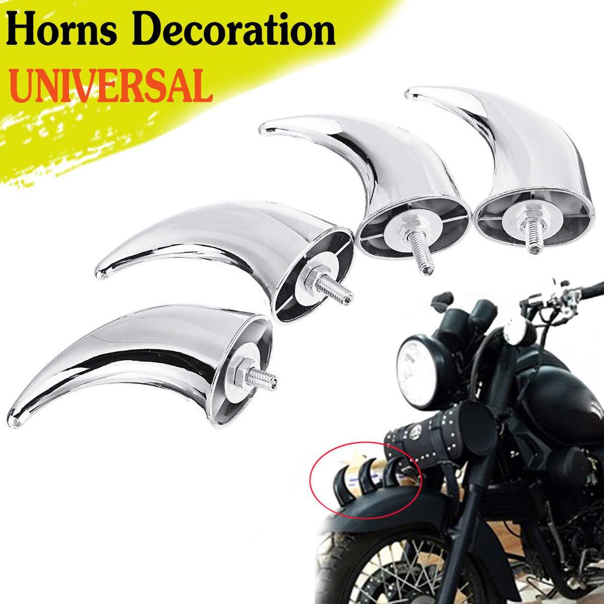 Fittings Motorcycle Black Front Fender Horns Decoration for Harley Chopper Bobber Touring Cafe Racer Custom