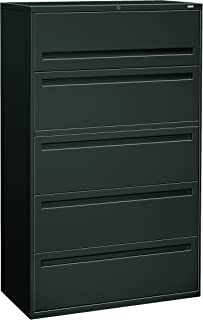 product image for HON 795LS 700 Series 42-Inch 5-Drawer Lateral File withroll-Out and Posting Shelves, Charcoal