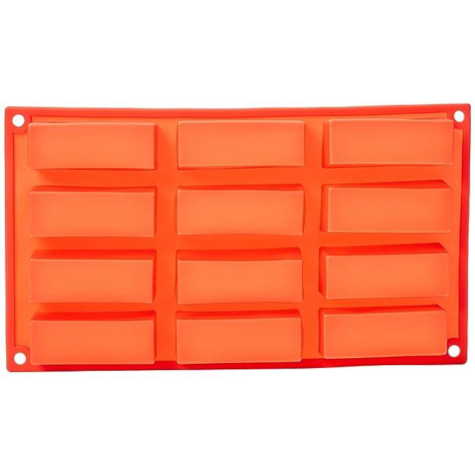 AmazonBasics - Molde de silicona para bizcochos rectangulares: Amazon.es: Hogar