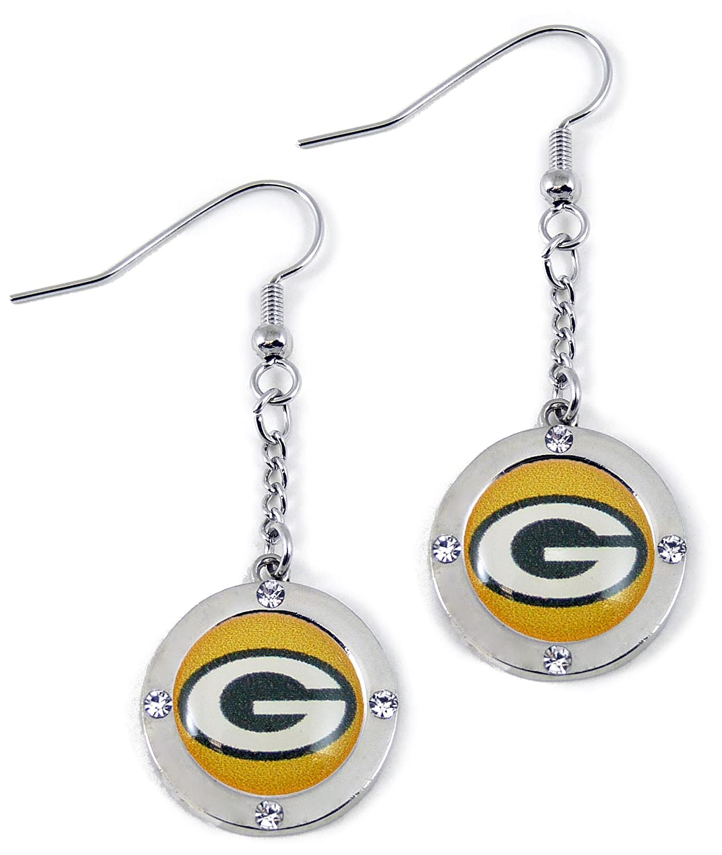 NFL Green Bay Packers Crystal Dangle Earrings