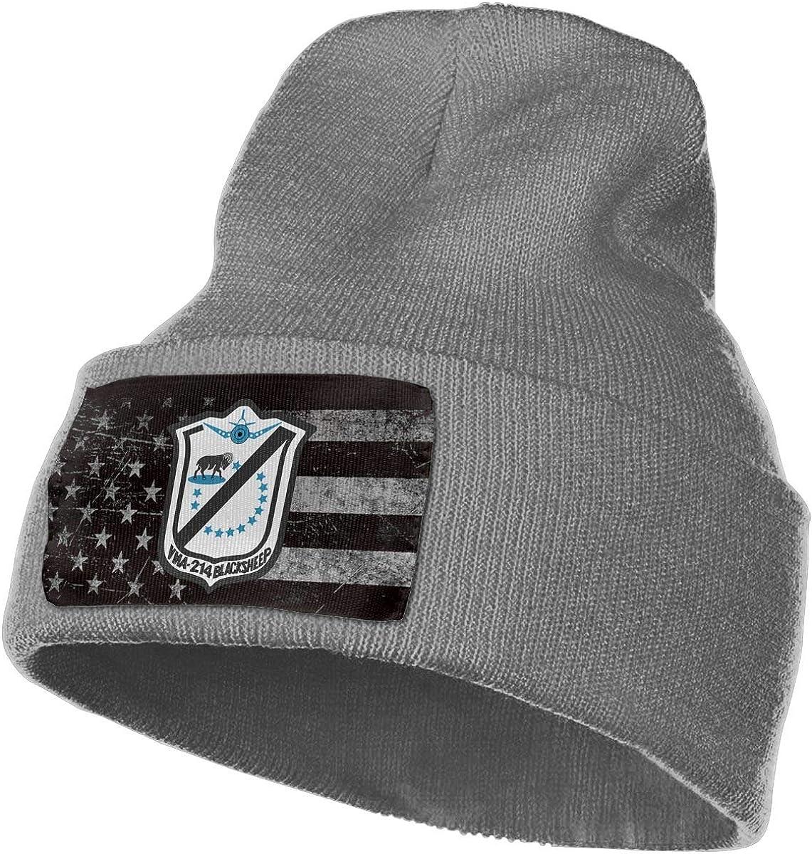 Peng Peng VMA-214 Insignia Beanie Cap Skull Cap Men Women Winter Warm Knitting Hats