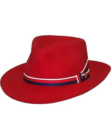 9b841ba1 Amazon.com: Stetson Unisex Aviatrix Fedora Hat Red Medium: Everything Else