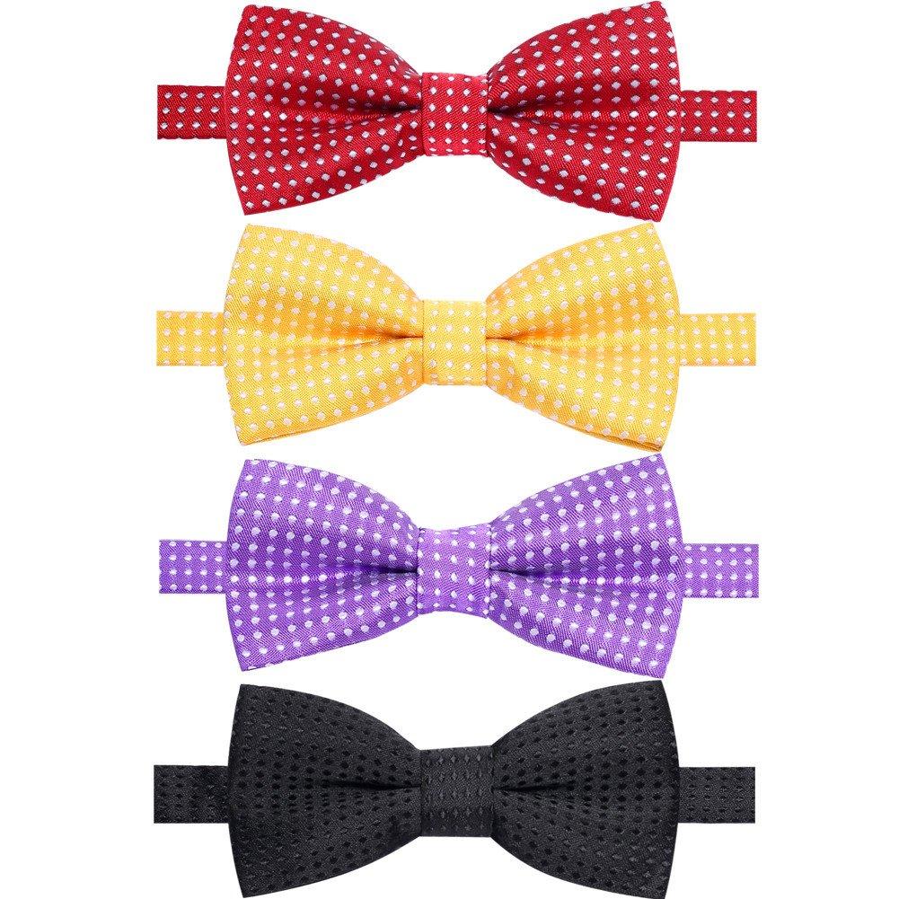 New Kids Red /& White Polka Dot Adjustable PreTied  BowTie For Children Toddler