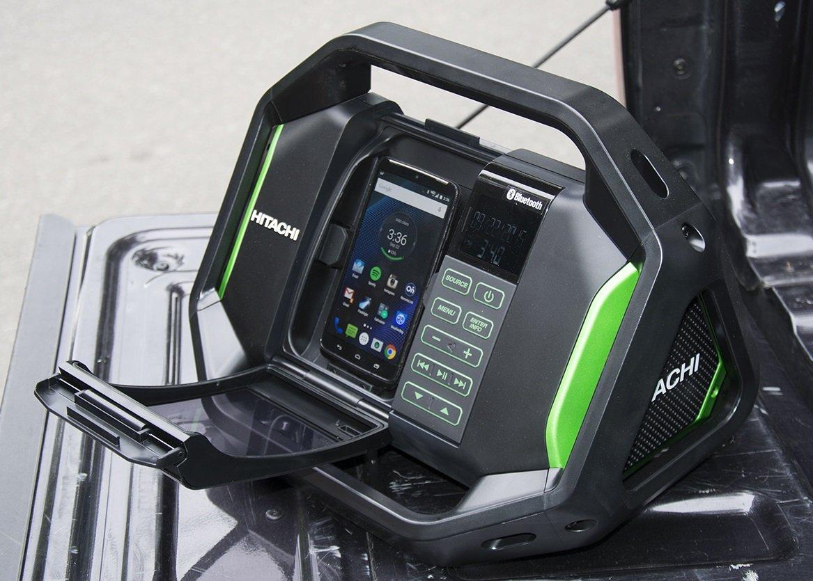 hitachi ur18dsdl. hitachi ur18dsalp4 cordless 18-volt lithium-ion bluetooth radio with usb charger and alarm (radio only, no battery) - amazon.com ur18dsdl