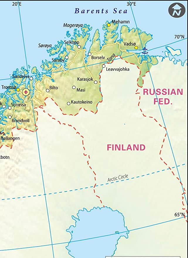 Amazon Com Norway Map 36 W X 49 46 H Office Products