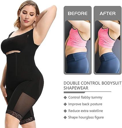 LBBL Mujeres Fajas Cuerpo Completo Body Post Cirug/ía Ropa Compresi/ón Control Firme Body Shaper Entrenador Cintura Ropa Interior Adelgazante Shaperwear Postparto Color : Black, Size : S