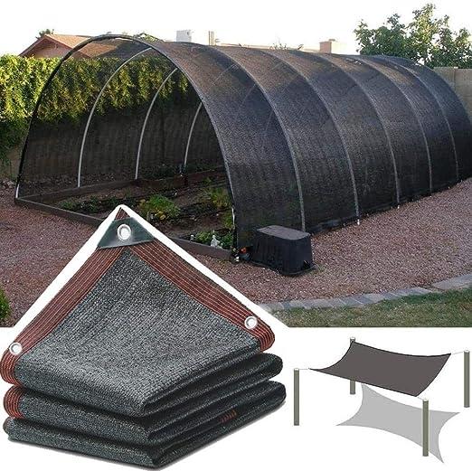 HWF Sombra Solar Malla Cubierta de Sombra de Invernadero, Paño de Sombra Bloqueador Solar con Ojales, para La Cubierta Vegetal Granero Perrera Piscina Pérgola o Sombrilla de Piscina (Size : 5M×8M): Amazon.es:
