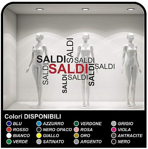 d5cc7867583f67 Adesivo Scritte Saldi Vetrofanie Allestimento Vetrine Stickers Design adesivi  vetrina vetrofiania saldi per negozi