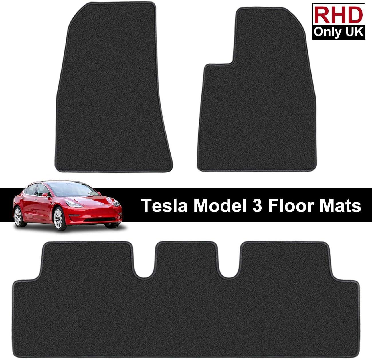 Printers Jack Rhd Tesla Modell 3 Fußmatten Für Rechtslenker Allwetter Rückseite Passgenau Strapazierfähig Für Alle Jahreszeiten Umweltfreundlich Zubehör 2019 2020 Auto
