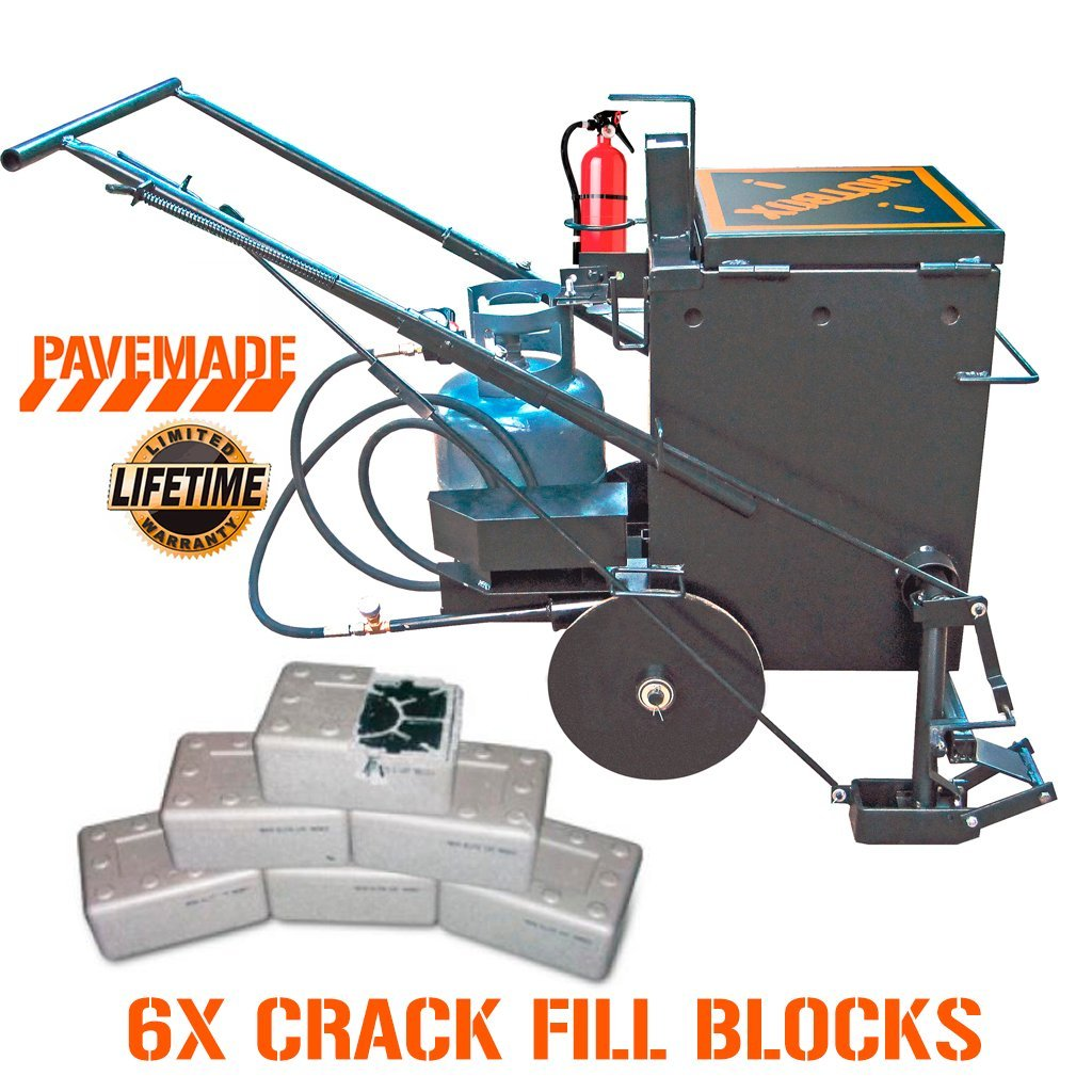 [PAVEMADE] HOTBOX 10 COMBO 6x blocks + mobile hot rubberized asphalt melter kettle