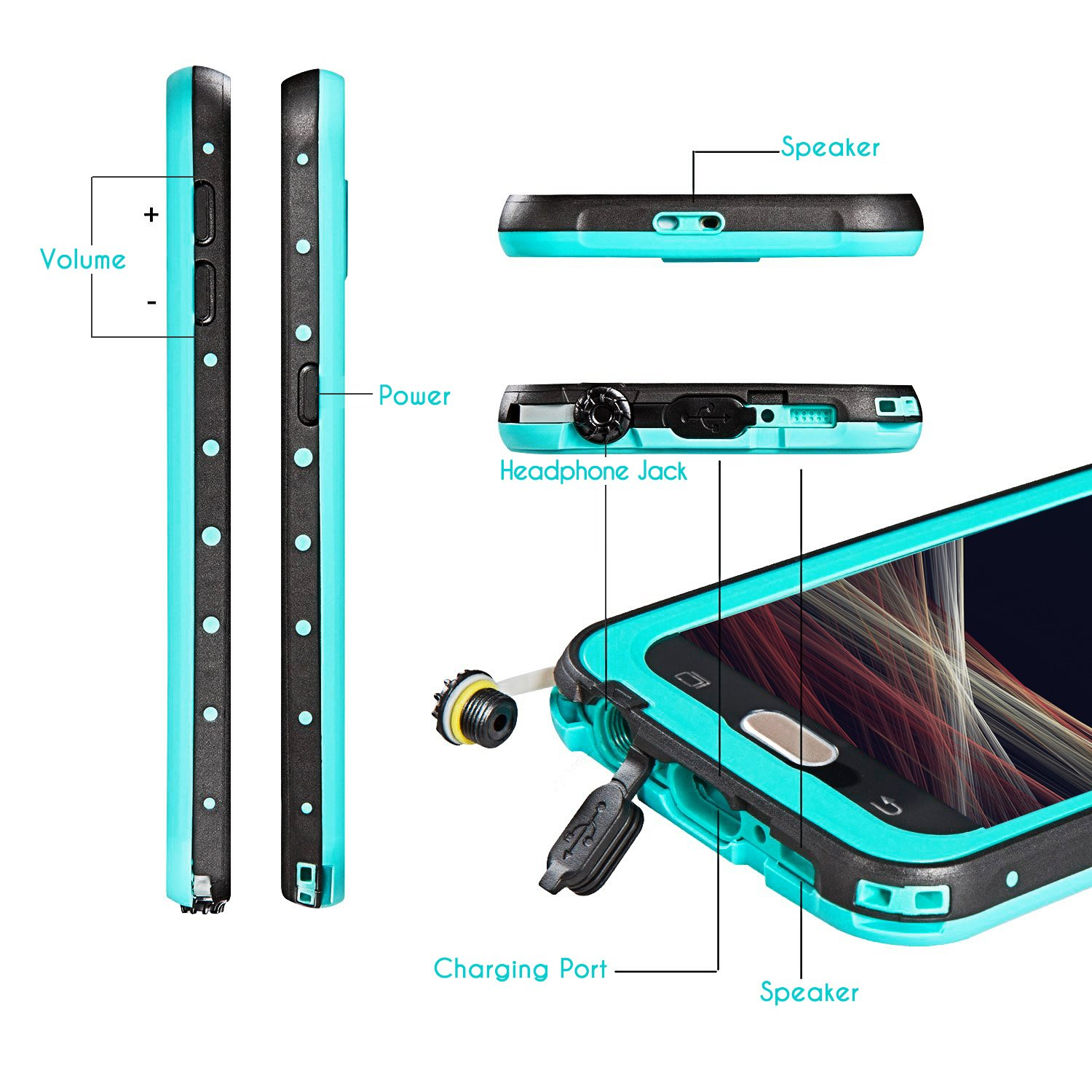 Fitfort Galaxy S6 Waterproof Caseip68 Certified With Lifeproof Samsung Fre Case 77 51242 Black Built In Screen Protector Extreme Durable Shockproof Full Sealed Cover Protective