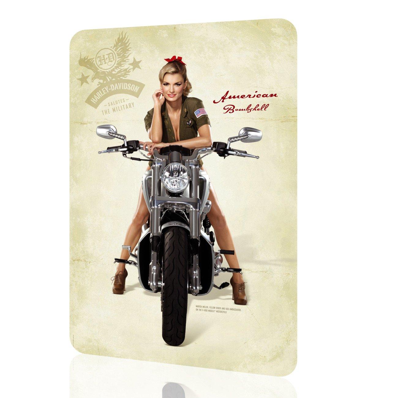 Amazon Com Metal Sign American Bombshell 4 Harley Davidson Home