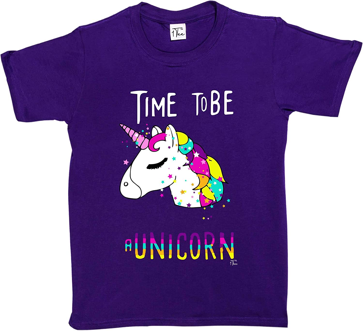 A Unicorn Magical T-Shirt 1Tee Girls Time to Be