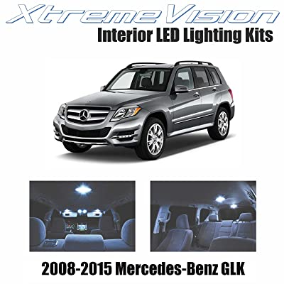 Xtremevision Interior LED for Mercedes-Benz GLK 2008-2015 (17 Pieces) Cool White Interior LED Kit + Installation Tool: Automotive