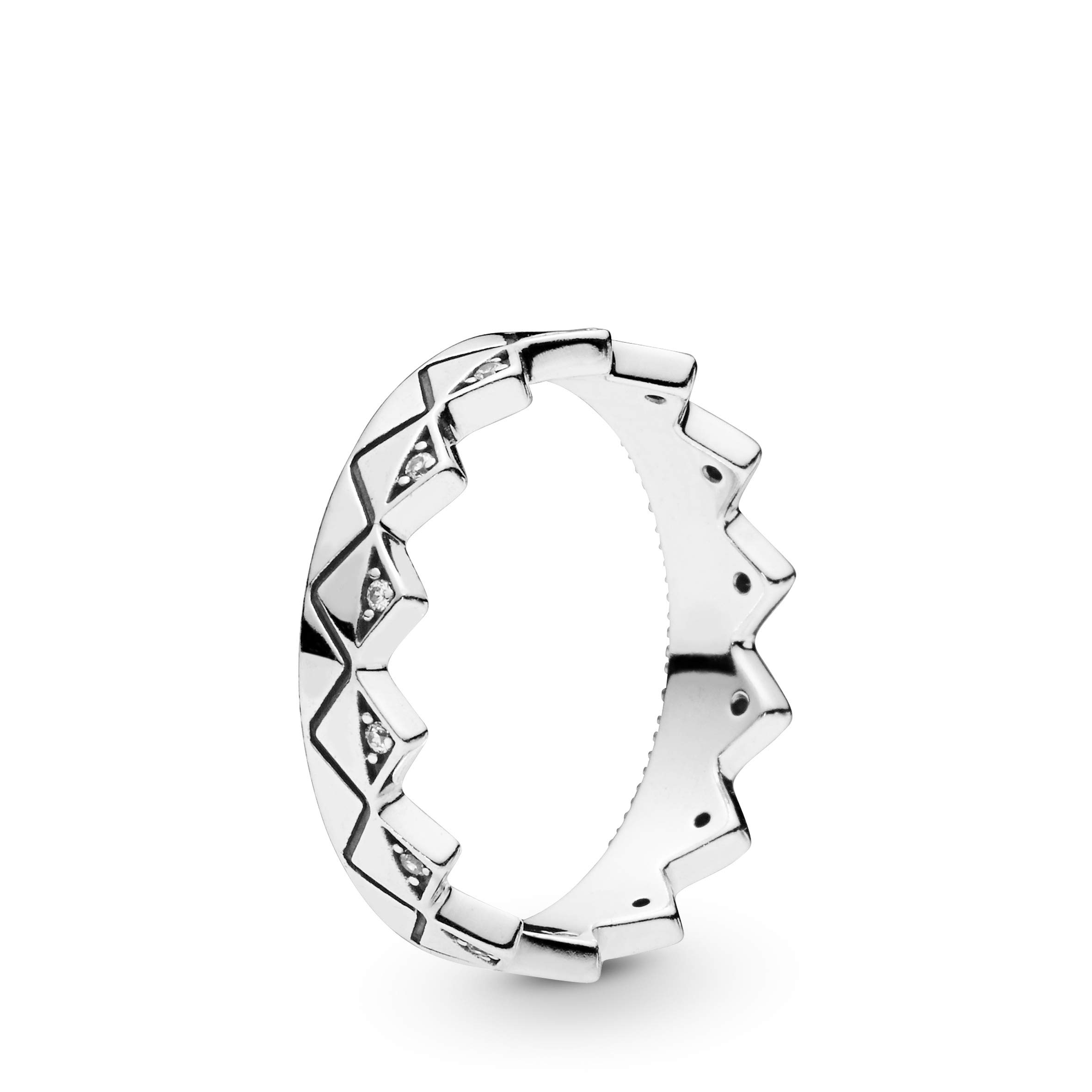 PANDORA Exotic Crown 925 Sterling Silver Ring, Size: EUR-56, US-7.5-198033CZ-56
