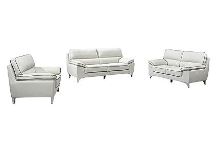 Awe Inspiring Amazon Com Blackjack Furniture 9436 Light Gray Sofa Set Bralicious Painted Fabric Chair Ideas Braliciousco