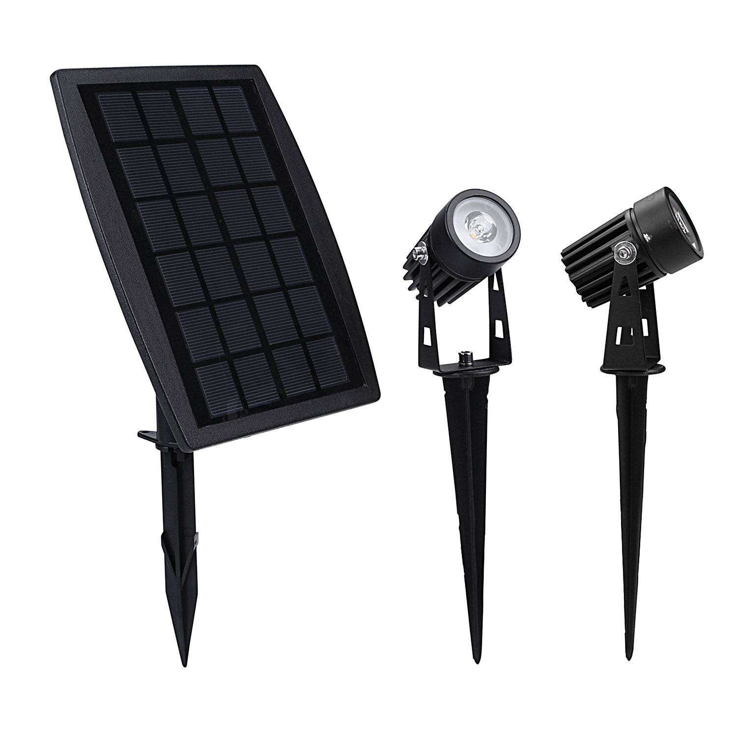 Findyouled Solar Spotlight, Waterproof Outdoor Solar Lights Landscape Lighting Wall Light Auto On/Off for Yard Garden Driveway Pathway Pool Tree Patio by findyouled