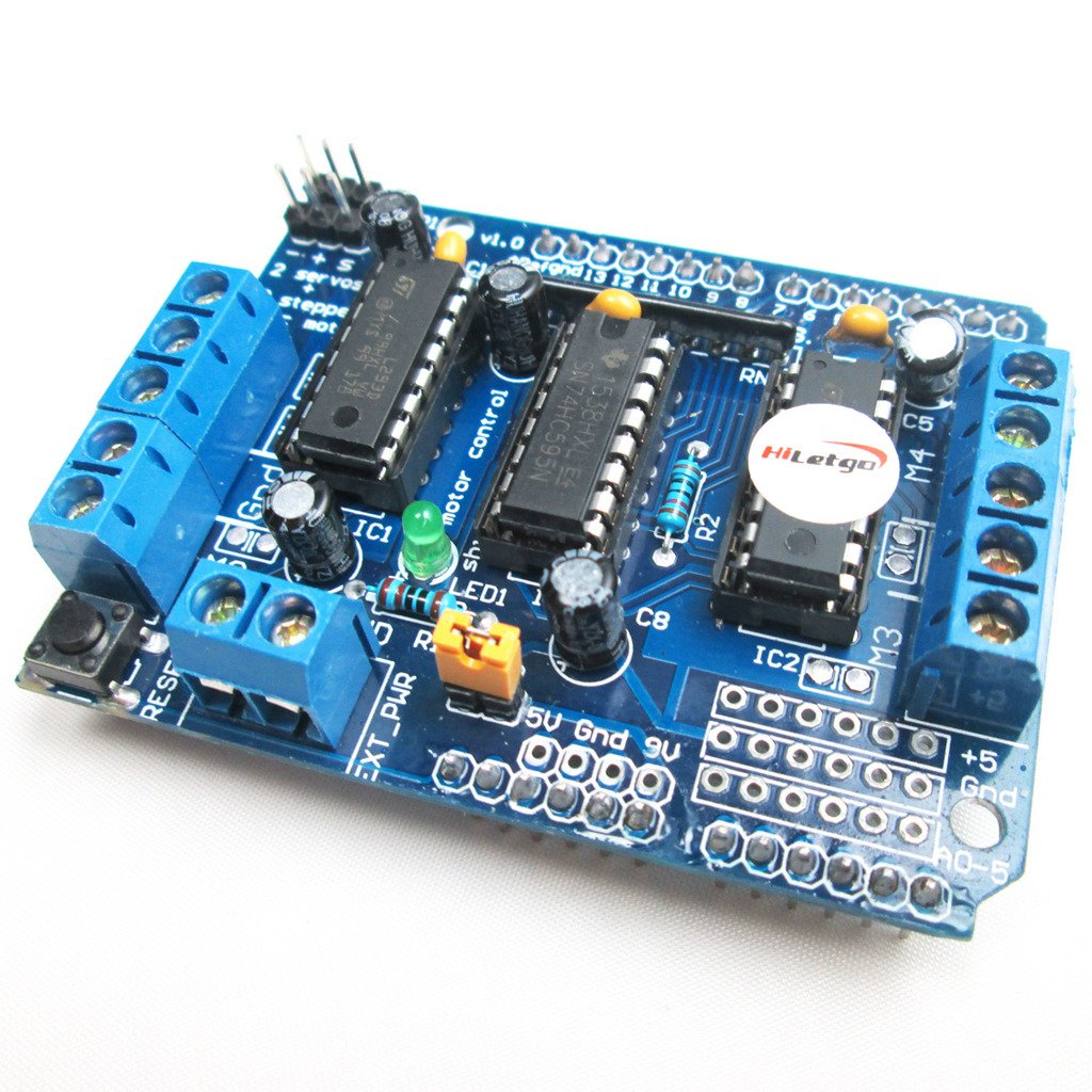 SB New Motorshield for Raspberry Pi 3,2,1 and Zero This Expansion Board can Control up to 4 Motors or 2 Stepper Motor 2 IR sensors and a Single ultrasonic Sensor.