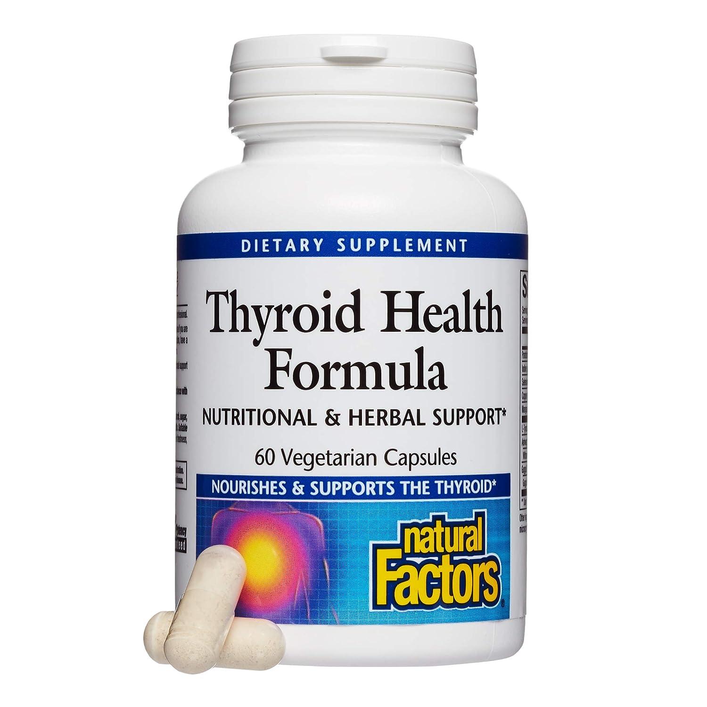 Natural Factors Thyroid Health Formula 60 Vcaps Amazon Health