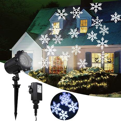 B&H-ERX Luces de proyector de Navidad, Proyector de Copo de Nieve ...