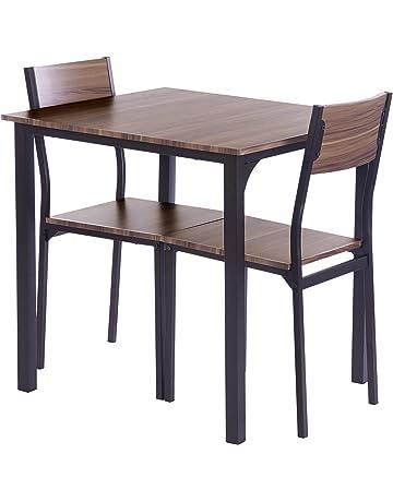 ts ideen 3 teiliges set essgruppe tisch 2 stuhle kuche esstisch fruhstuckstisch braun holz