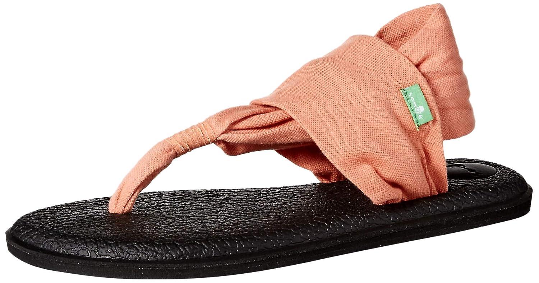 Sanuk Womens Yoga Sling 2 Carnelian Yoga Mat Sandal Flip-Flop