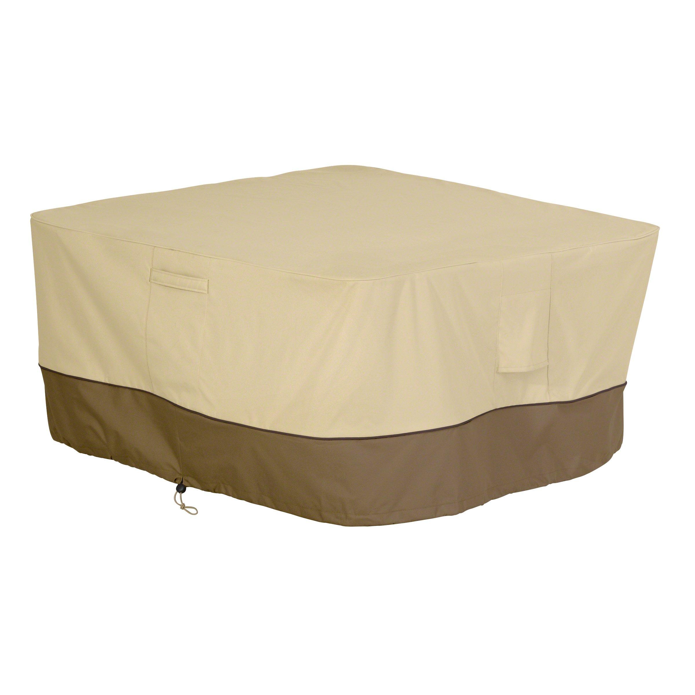 Classic Accessories 55-407-011501-00 Veranda Square Fire Pit/Table Cover, 42-Inch