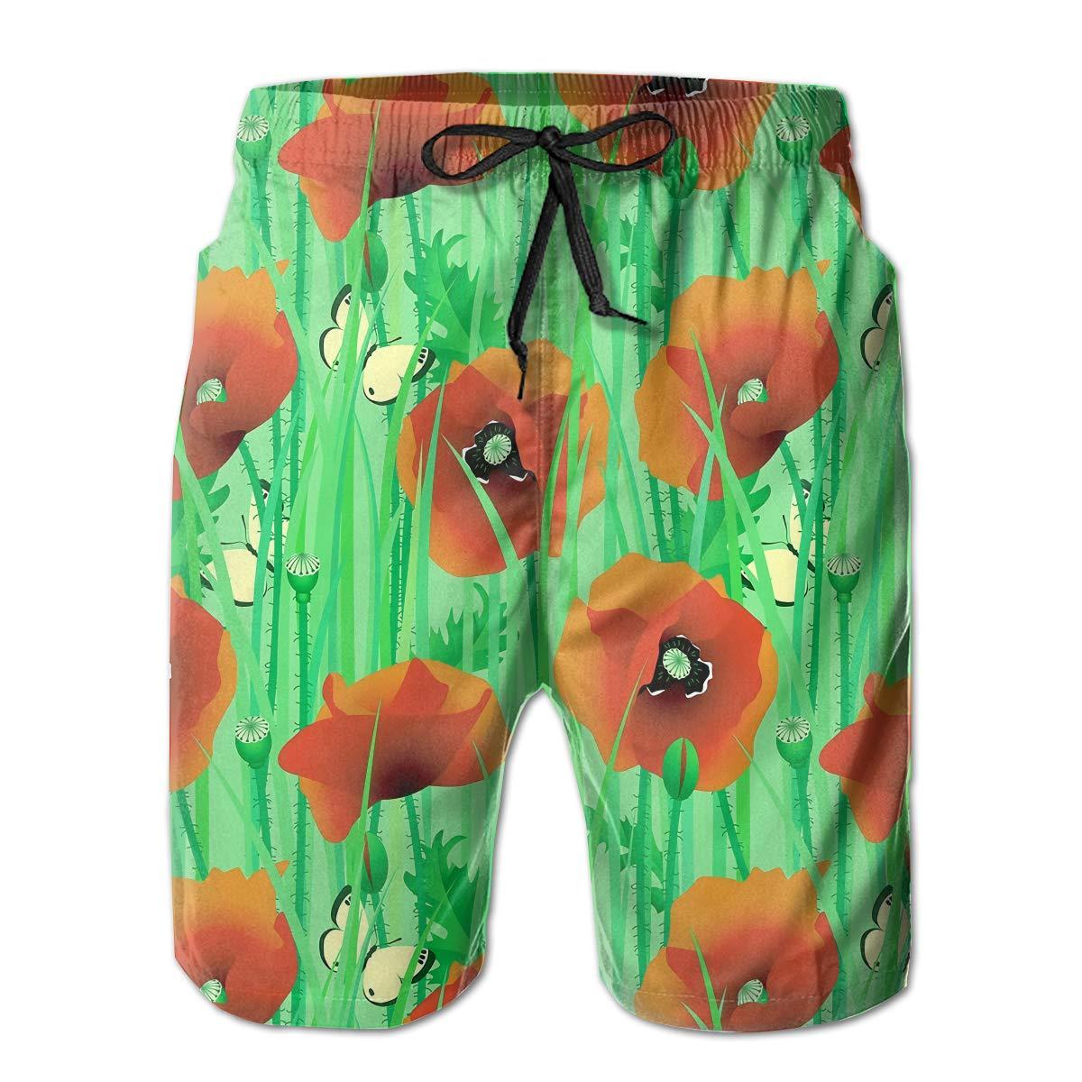 Mens Comfortable Hawaii Beach Rowing Funny Beach Shorts Swim Trunks Board Shorts