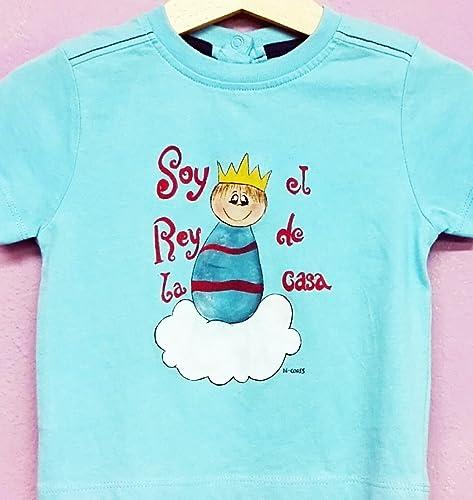 Camiseta pintada a mano Soy el rey de la casa. Se puede personalizar