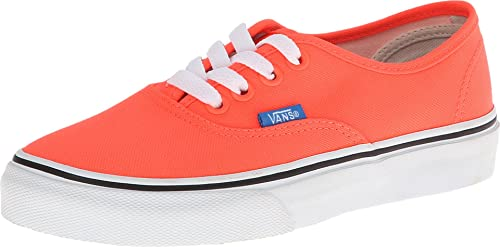 08be9a624c Vans Kids Authentic (Neon) Coral French Blue Skateboarding Shoe (11.5 M US